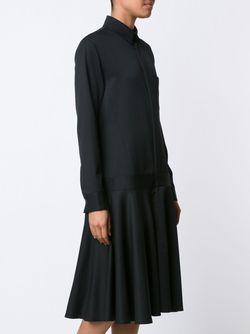 Платье-Рубашка Средней Длины Y'S                                                                                                              чёрный цвет