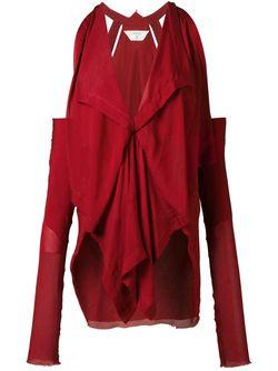 Драпированный Топ KITX                                                                                                              красный цвет