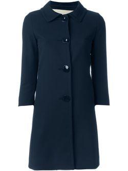 Однобортное Пальто Herno                                                                                                              синий цвет