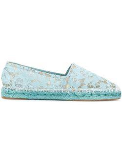 Кружевные Эспадрильи Dolce & Gabbana                                                                                                              синий цвет