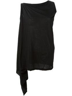 Асимметричный Топ RICK OWENS DRKSHDW                                                                                                              черный цвет