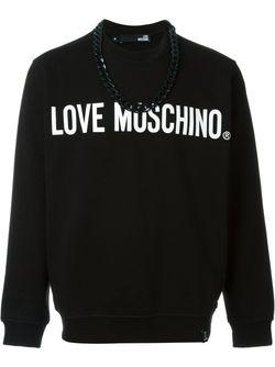 Толстовка С Логотипом Love Moschino                                                                                                              черный цвет