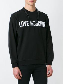Толстовка С Логотипом Love Moschino                                                                                                              чёрный цвет
