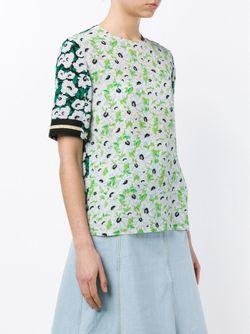 Sybille Floral Slit Sleeve Top Stella Mccartney                                                                                                              многоцветный цвет