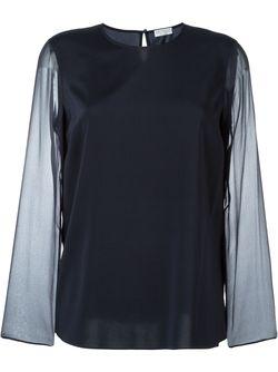 Блузка С Прозрачными Рукавами Brunello Cucinelli                                                                                                              синий цвет