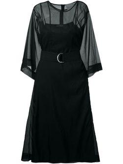 Платье Миди Erika Cavallini                                                                                                              черный цвет
