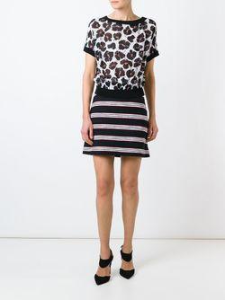 Блузка С Цветочным Принтом BOUTIQUE MOSCHINO                                                                                                              белый цвет