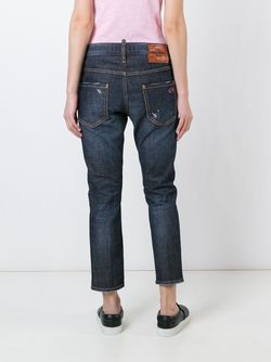 Cool Girl Cropped Jeans Dsquared2                                                                                                              синий цвет