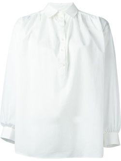 Плиссированная Блузка Paul & Joe                                                                                                              белый цвет