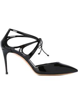 Туфли На Завязках С Вырезными Деталями Casadei                                                                                                              чёрный цвет