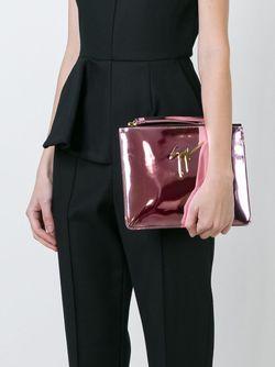 Клатч С Металлическим Логотипом Giuseppe Zanotti Design                                                                                                              розовый цвет