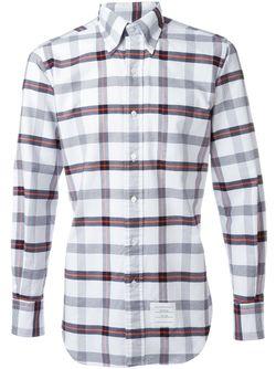 Рубашка В Клетку Thom Browne                                                                                                              белый цвет