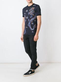 Футболка С Принтом Дракона Dolce & Gabbana                                                                                                              чёрный цвет