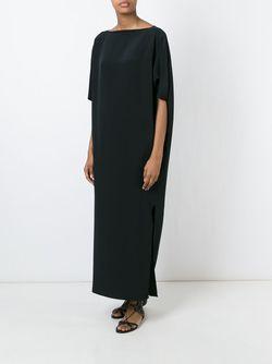 Платье Макси Свободного Кроя Gianluca Capannolo                                                                                                              черный цвет
