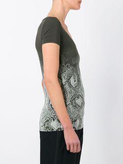 Degradé Snakeskin Print T-Shirt Roberto Cavalli                                                                                                              серый цвет