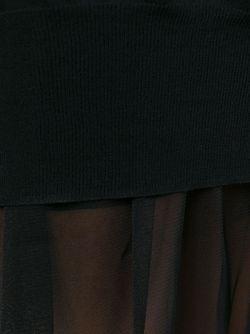 Прозрачное Платье Sacai                                                                                                              чёрный цвет