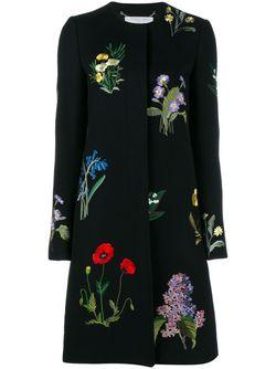 Пальто Nadia С Цветочной Вышивкой Stella Mccartney                                                                                                              чёрный цвет
