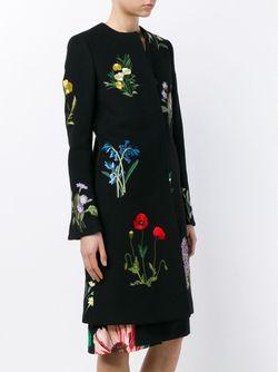 Пальто Nadia С Цветочной Вышивкой Stella Mccartney                                                                                                              черный цвет