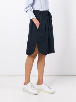 Drawstring Waist Skirt Odeeh                                                                                                              синий цвет