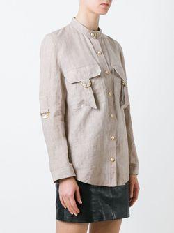 Рубашка С Воротником Мандарин Balmain                                                                                                              Nude & Neutrals цвет