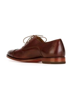 Stacked Heel Oxford Shoes Santoni                                                                                                              красный цвет