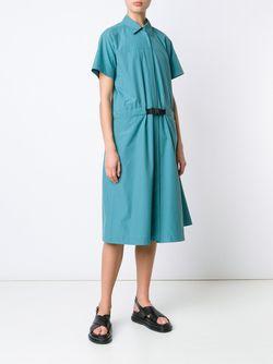 Платье-Рубашка С Короткими Рукавами Jil Sander                                                                                                              синий цвет