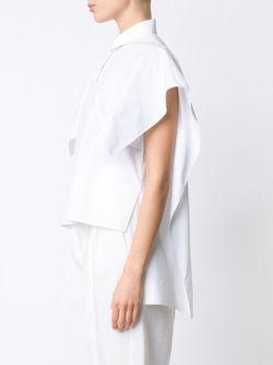 Рубашка С Рукавами-Кап Delpozo                                                                                                              белый цвет