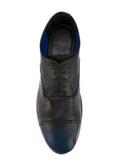 Двухцветные Туфли Броги Alberto Fasciani                                                                                                              синий цвет