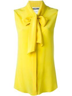 Топ С Бантом Moschino                                                                                                              желтый цвет