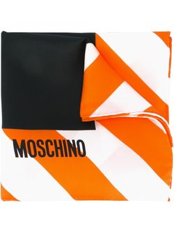 Платок С Принтом Clothed For Repairs Moschino                                                                                                              черный цвет