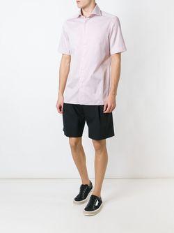 Рубашка С Короткими Рукавами Ermenegildo Zegna                                                                                                              белый цвет