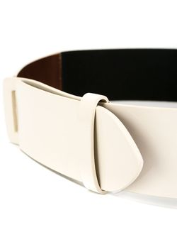 Bicolour Belt MM6 by Maison Margiela                                                                                                              белый цвет