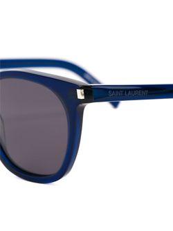 Солнцезащитные Очки С Круглой Оправой Saint Laurent                                                                                                              синий цвет