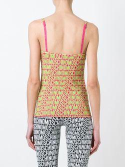 Топ С Принтом Логотипа Moschino Underwear                                                                                                              розовый цвет
