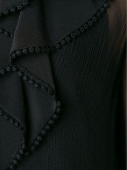 Топ С Прозрачными Рукавами Chloe                                                                                                              черный цвет