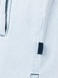 Logo Shift Denim Dress Gcds                                                                                                              синий цвет