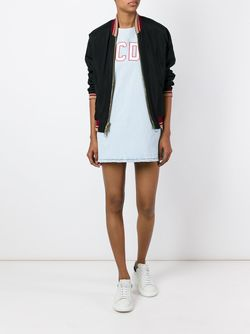 Logo Shift Denim Dress Gcds                                                                                                              синий цвет