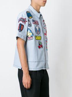 Рубашка С Нашивками Gcds                                                                                                              синий цвет