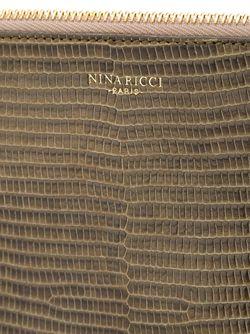 Клатч С Эффектом Змеиной Кожи Nina Ricci                                                                                                              зелёный цвет