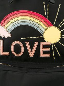 Rainbow Appliqué Backpack Red Valentino                                                                                                              чёрный цвет