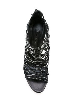 Embellished Cut-Out Booties Casadei                                                                                                              черный цвет
