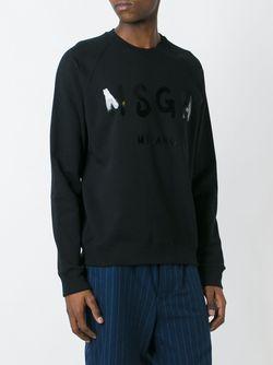 Толстовка С Принтом Логотипа MSGM                                                                                                              чёрный цвет