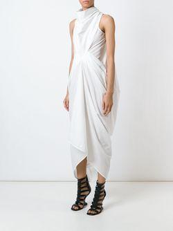 Драпированное Платье Rick Owens                                                                                                              белый цвет