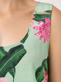 Sleeveless Floral Blouse Isolda                                                                                                              зелёный цвет