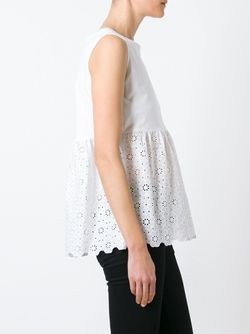Anglaise Broderie Flared Top L' Autre Chose                                                                                                              белый цвет
