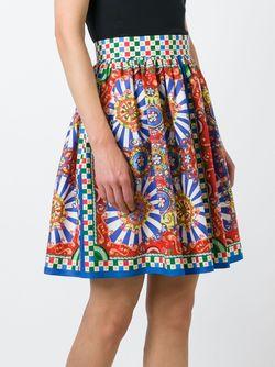 Юбка С Принтом Carretto Siciliano Dolce & Gabbana                                                                                                              многоцветный цвет