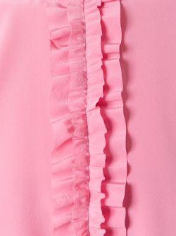 Топ Без Рукавов С Оборками Red Valentino                                                                                                              розовый цвет