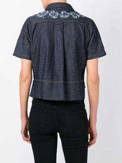 Cropped Denim Shirt Dsquared2                                                                                                              синий цвет