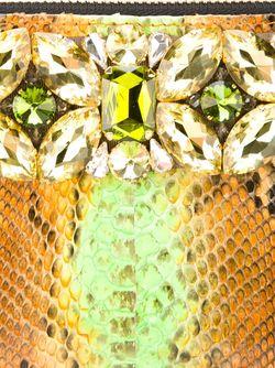Клатч С Эффектом Змеиной Кожи Gedebe                                                                                                              желтый цвет