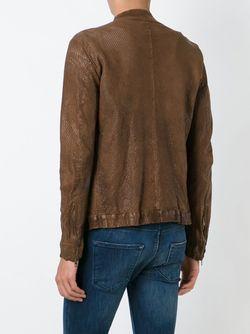 Кожаная Куртка С Перфорацией SALVATORE SANTORO                                                                                                              коричневый цвет